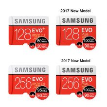 SAMSUNG Memory Card Micro SD 256GB 16GB 32GB 64GB 128GB SDHC SDXC Grade EVO+ Class 10 C10 UHS TF Cards Trans Flash Microsd New