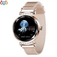 696 Newest Fashion T88 Smart Watch Women 3D Diamond Glass Heart Rate Blood Pressure Sleep Monitor Best Gift Smartwatch