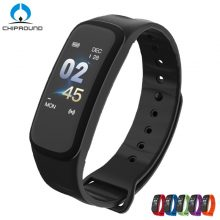 C1S Smart Bracelet Color Screen Blood Pressure Waterproof Fitness Tracker Heart Rate Monitor Smart Band for Android IOS