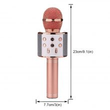 Professional Bluetooth Wireless Microphone WS-858 Karaoke Microphones Speaker Handheld Music Player MIC Singing Recorder KTV Mic