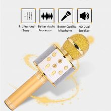 Professional Bluetooth Wireless Microphone Speaker Handheld Microphone Karaoke Mic Music Player Singing Recorder KTV 1800Mah