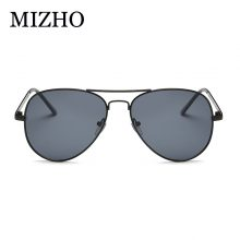 MIZHO Cheap Brown Lens Unisex Metal Yellow Sunglasses Women Pilot Mirror Brand Designer Aviador Sunglasses For Men 2018 Summer