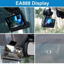 E-ACE Car Dvr 3 Camera Lens 4.0 Inch Video Recorder Dash Cam Auto Registrator Dual Lens With Rear View Camera DVRS Camcorder