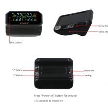 EANOP S600 Solar TPMS Tire Pressure Monitoring System Car Windshield Wireless Tyre Pressure Alarm External/Internal sensor