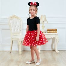 Kids Dresses for Girls Birthday Halloween Cosplay Costume Minnie Mouse Dress Up Kid Costume Baby Girls Clothing For Kids 2 6T