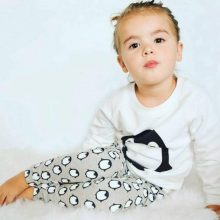 Fashion Baby Boys Girls Clothing Sets 2PCS Baby Boys Girl Clothes Long Sleeve T-shirt + Pants Cute Penguin  NewBorn Baby Outfits