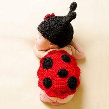 Soft Handmade Crochet Baby Hat Newborn Photography Props Set Bebe Knitted Fotografia Costume 0~12 Months KF085