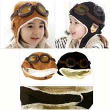 Pudcoco New Fashion Cute Winter Baby Toddler Boy Girl Kids Pilot Aviator Warm Cap Hat Beanie Pilot Cap 2 Colors