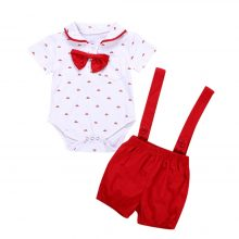 MUQGEW 2018 Hot Sale 2PCS Baby Infant Boys Short Sleeve Romper Clothes  Toddler Pants Set Outfits Dropshipping Baby Clothes