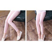 2-14 Years Girls Skinny Long Pants Shiny Black White Pink Children Bottoms Leggings Kids Elastic Trousers All-matches Leggings