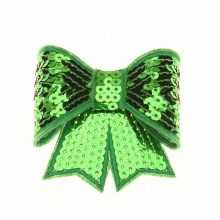 12PCS Sequin Bows Newborn  Hair Bows Hair Accessories Glitter Bow Tie Sequin Embroidery Bows