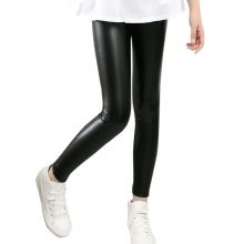 High quality Girls Faux Leather Leggings Children Pants Leather Girls Pants
