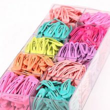 LOEEL 10pcs/pack New Simple Color Jelly Hair Ornaments Headdress Children Hairpin Girls BB Clips Barrettes Headbands For Womens