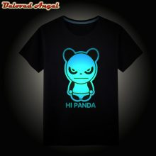 2019 Girls Boys T-Shirts New Summer Children Tops Kids Hip Hop Neon Print Party Club Night Light Punk Top Tee Teenager 3-15Year