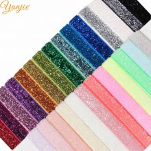 10yards/lot 3/8″ Glitter FOE Elastic For Girls DIY Shimmery Hairband Kids Solid Hair ties Women Headbands Hair Accessories