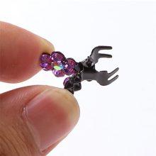 12 Pcs/Set Kids Rhinestone Hair Claws Hair Accessories Girls Hairpin Small Flowers Hair Clips Bangs for Children Random Colors