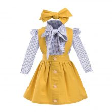 MUQGEW 2018 Hot sale 3Pcs Toddler Infant Baby Girls Dot Print Tops T Shirt  Strap Skirt Outfits Set Dropshipping Baby Clothes