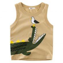 Cartoon Tiger T Shirt Boys Girls 2019 Summer Children's Clothing Toddler Shark Cotton Tops Tee Baby Kids Bebe Letters T-shirt