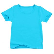 Big Sale Summer Children's T Shirts Baby Boys Girls O Collar Cotton T-shirt Solid Color Kids Casual Sport Tees Clothes Tops