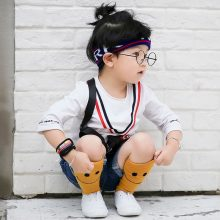 Smile Sunshine Pattern Knee socks for children baby boys long sock cotton blend kids girls knee socks school spring/autumn 2017