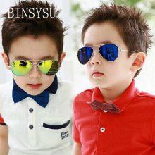 Mercury coating Kids Sunglasses Dual Beam Children Baby Boys Girls UV400 Protection Sun Glasses Personas Goggle Sunglasses