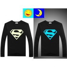 Luminous Long Sleeve T-Shirt For Boys T Shirt Batman Christmas Teen Girl Tops Size 10 11 12 14 years Teenage Toddler Boy Tshirts