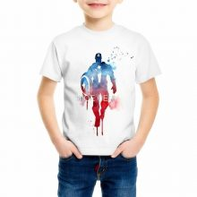 The Flash American big hero superman Children's t shirts 3D cartoon Iron Man/Hulk Giant/Captain America/Spiderman t-shirt C17-39