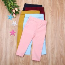 Kids Child Baby Boy Girl Clothes Pants Long Stretch Pencil Pants Clothes Trousers Slacks Casual Bottoms