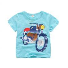 Hot Baby Boys T Shirt Cotton Tops Tees For Boy Cartoon Car Print Kids Children Outwear Clothes Tops 2-8 Year Boys Clothes