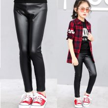 New Spring Children Leggings Baby Girls PU Leather Kids Clothing Pants Autumn Slim Skinny Trousers for Girls Leggins Getry Fille