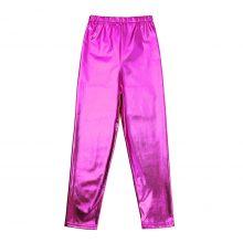 Fashion Boys Girls Shiny Metallic Skinny Pants Elastic Pencil Pant Leggings for Kids Performances Dance Costumes