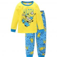 2-7 y cartoon kids pajama sets cotton long sleeve clothing set spring winter child pyjamas set baby girls boys sleep wear HYL23