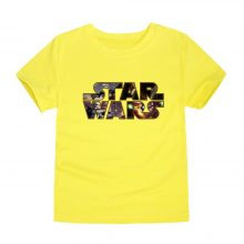 2018 summer boys girls star wars t-shirts kids short sleeve t-shirt baby tees children tops for 2-14 years