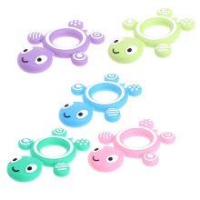 Baby Turtle Silicone Teether Safety Tortoise Infant Kids Food Grade Silicone Soother Teether Teething Pacifier Neckalce Pendent