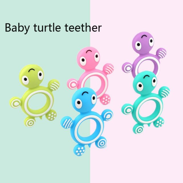 Safety Tortoise Kids Baby Food Grade Silicone Soother Teether Teething Pacifier