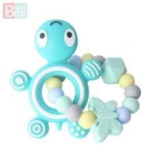 Silicone Baby Teethers Turtle 1PC Food Grade Tortoise Silicone Rodents Children's Goods Nurse Gift Baby Teether Bite Bites