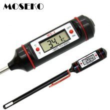 MOSEKO Portable Digital Kitchen Thermometer BBQ Meat Water Oil Cooking Electronic Probe Food Oven Thermometer WT-1 With Tube