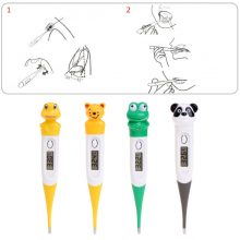 OOTDTY Cartoon Home Electronic Digital LCD Fever Medical Thermometer Baby Body Temperature