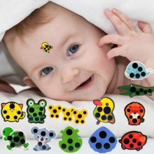 10PCS/set Cartoon Sticker LCD Forehead Thermometers Body Fever Thermometers Forehead For Kids Care Thermometer Random Style