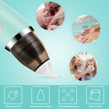 Baby Nasal Aspirator Electric Hygienic Nose Cleaner Safe Oral Snot Sucker Soft Ergonomic Anti-reflux Boy Girls Oral Snot Sucker