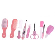10Pcs/Set Baby Kids Nail Hair Health Care Thermometer Nose Cleaner Toothbrush Safety Tools Newborn Baby Care Grooming Brush Kit