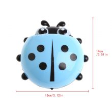 Cute Ladybug Toothbrush Holder Wall Mount Suction Sucker Hook Home Bathroom Baby Care Set