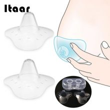 2 Pcs Triangular Nipple Cover Transparent Silicone Durable Breast Protector Washable Reusable