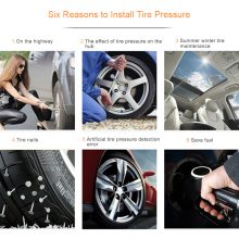 TPMS Tire Pressure Alarm Monitoring System Tyre Pressure Sensor Auto Security Alarm monitor System Solar Power charging For Car