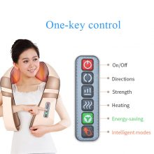 JinKaiRui U Shape Electrical Shiatsu Back Neck Shoulder Massager Body Spa Infrared 4D kneading Massagem Car Home Dual Use Masaje