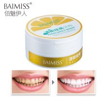 BAIMISS Tooth Whitening Powder 50g Fresh Dazzle Teeth Brighten Oral Hygiene Cleaning Tools Plaque Tartar Stains Remover Gentle