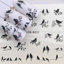 Stickers for Nails Water Decals Emoticon Nail Sticker Slider Art design Decoration Manicure Foil Adhesive Wraps Tools Pegatinas