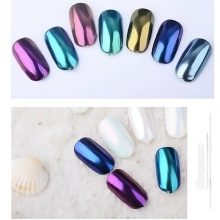 1 box Pearl Shell Chameleon Mirror Nail Powder Glitters DIY Shell Nail Art Chrome Pigment Dust Manicure Decoration