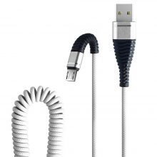 1.2M Micro USB Phone Cable Fish Tail Spring Durable Cable Data Fast Charging For Android Phone Universal Cables Dropshipping