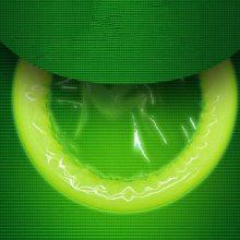 Zerosky Fluorescence Condoms Special Condoms Noctilucent 3 Glow In The Dark Condoms + 4 Ultra-thin Condoms Sex Products